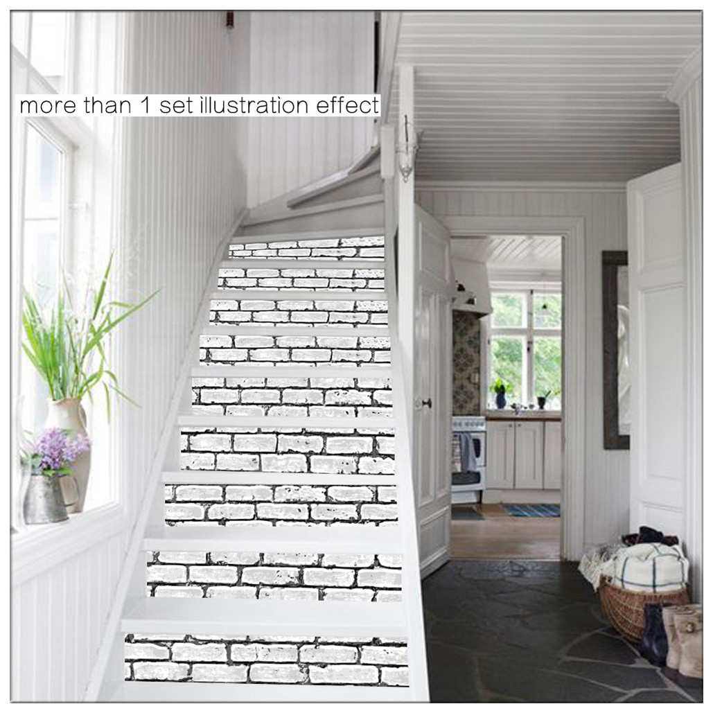 Primary image for DIY Steps Sticker Removable Stair Sticker Mural Wrap015 Brick Wall