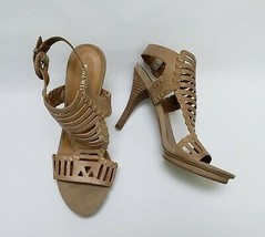 Nine West Womens Shoes Sandals Heels Ankle Strap Buckle Gladiator Size US 8.5 M - $39.55