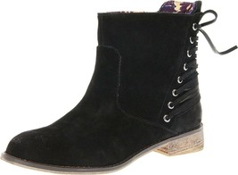 Women's Betsey Johnson BECAN Short Ankle Boots Bootie Black Suede - £64.22 GBP