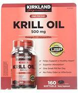 Kirkland Signature Krill Oil 500 Milligram 160 Softgels - $34.33