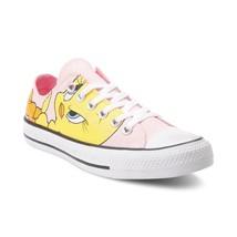 Neuf Converse Chuck Tailleur Tout Étoile Lo Looney Tunes Titi Oiseau Rose Femmes - $201.38