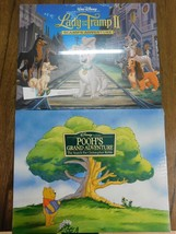 LOT Disney Lithographs LADY AND THE TRAMP II + POOH'S ADVENTURES - NEW S... - $8.59