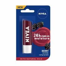 NIVEA Lip Balm Blackberry Shine 4.8 Gram -Pack of 2 -delightful blackber... - $13.13
