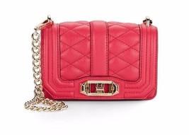 Rebecca Minkoff Mini Love Leather Crossbody Bag Purse In Raspberry NWT - $108.89