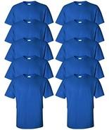 Gildan mens Ultra Cotton 6 oz. T-ShirtG200-ROYAL-2XL-10PK - $53.77