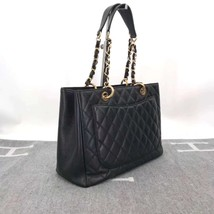 BRAND NEW AUTH CHANEL QUILTED CAVIAR GST GRAND SHOPPING TOTE BAG image 5