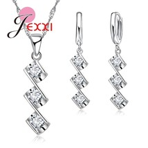 New Arrival Three Imitation Wedding Jewelry Set For Women Necklace Pende... - $13.13