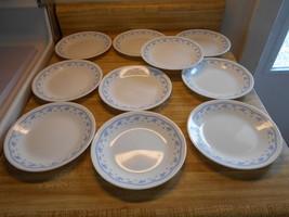 corelle morning blue plates - $18.95