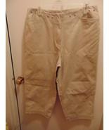"Basic Editions Khaki Capri's S 14-Pockets-33"" Waist-42"" Hips-21"" Inseam - $4.46"