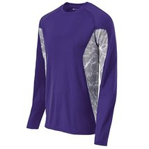 Holloway Long Sleeve Tidal Shirt L Purple/White Print - $250,80 MXN
