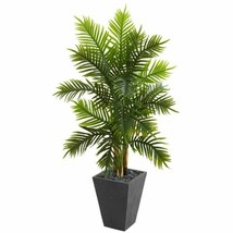 Multicolor 5.5' Areca Palm Artificial Tree in Slate Finished Planter (Real Touch - $265.56