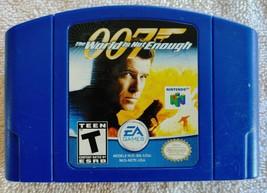 1997 Nintendo 64 James Bond 007 World Is Not Enough Blue Cartridge EA - $14.99
