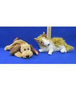 TY Beanie Babies Plush Original Stuffed Animals 1994 Bones & 2000 Cassie... - $12.22