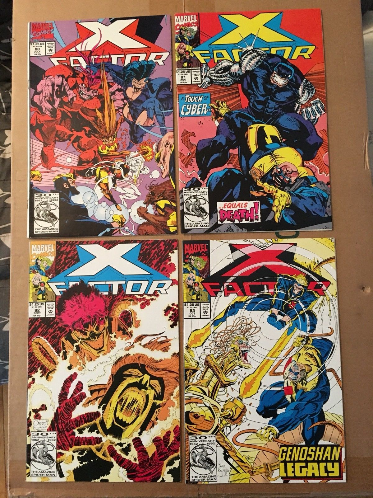X-Factor 80 81 82 83 1986 Marvel Comic Book Lot VF/VF Condition X-MEN