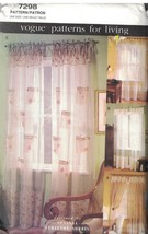 7298 Vintage Vogue Sewing Pattern Window Treatments Curtains Sheer Dress... - $4.84