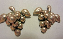 Vintage Screw Back Earrings Mexico Sterling Silver Grape Cluster - $29.70