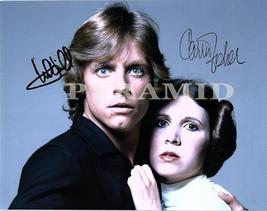 Star WARS- Carrie Fisher & Mark Hamill Autographed Hand Signed Photo w/COA 545 - $185.00
