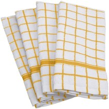 Cotton Kitchen Terry Towels Yellow 4/pack - $14.89