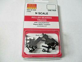 Micro-Trains Stock # 00302034 (1032) Roller Bearing Trucks Long  Extension (N) image 4