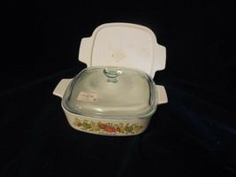 Corning Ware Spice of Life 1 Qt Sauce Pan A-1-B w/Pyrex Glass & Storage Lids - $19.79