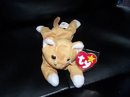 NIP the GOLD CAT TY BEANIE BABY RARE  NEW LAST ONE - $40.80