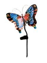 """Solar Powered Butterfly LED Garden Stake Decor Colorful Blue Orange 17"""" ... - $26.95"""