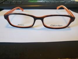 NEW Calvin Klein CK5865 506 Eyeglasses Frames PETITE 48-16-135 Havana / Orange - $25.25