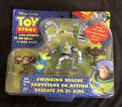 Disney Pixar Toy Story And Beyond Swinging Rescue Figure Set Buzz Lighty... - $16.82