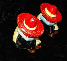 Sleeping Mexican Man Salt & Pepper Shakers Vintage Kitsch - $16.99