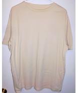 CROFT & BARROW Shirt LARGE Ribbed Pullover Beige Short Sleeve Top Women - $10.68