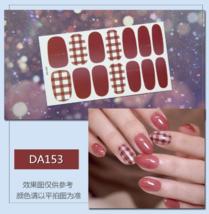 Checkered and Plain Korean Waterproof Cute Nail Art Stickers 14pcs - $8.00