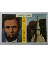 AL18 Abraham Lincoln GrFr Gettysburg 1950s Chrome Postrcard Not Posted EX - $2.33