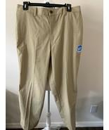 George Men's Flat Front Khakis Pant Elastic Waist Tan Various Sizes Wais... - $18.95