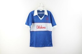Vintage 80s Umbro Mens Small Oklahoma Spell Out Collared Soccer Jersey B... - $24.70