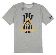 NIKE Kyrie Logo Lightning Bolt T-Shirt 2XL XX-Large Heather Gray Black G... - $31.49
