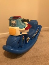 Little Tikes Rocking Police Motorcycle Rocker With Lights Sounds RARE & ... - $39.59