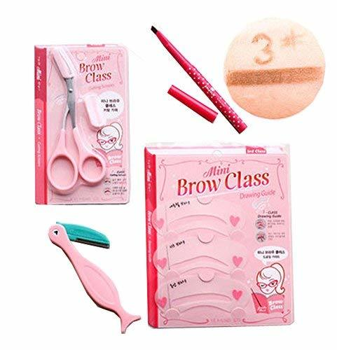 4 PCS Professional Make Up Tool Eyebrow Shaper/Groomer/Brow Class/Pencil, Coffee
