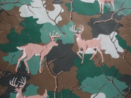 """Deer In The Forest Quilt Backing-108"""" Wide-Greens & Browns-Choice Fabrics - $14.95"""
