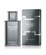 Kouros Silver Cologne by Yves Saint Laurent, 3.3 oz EDT Spray for Men NEW - £65.45 GBP