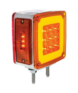 """LED Double Face """"GLO"""" Turn Signal Light - Double Stud, Amber/Red -Passen... - $50.48"""