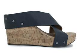 Lucky Brand Mykayla Crisscross Cork Wedge Sandals, Size 10 New - $37.13
