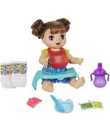 Baby Alive Happy Hungry Baby Brown Straight Hair Doll, Makes 50 Sounds &... - $99.99