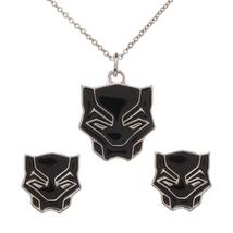 Black Panther Jewelry Necklace and Earring Set Marvel Comics - $15.00