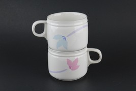 Double Up by Studio Nova JF011 His Her Blossom Flower Coffee Cup Mug Blue Pink - $16.83
