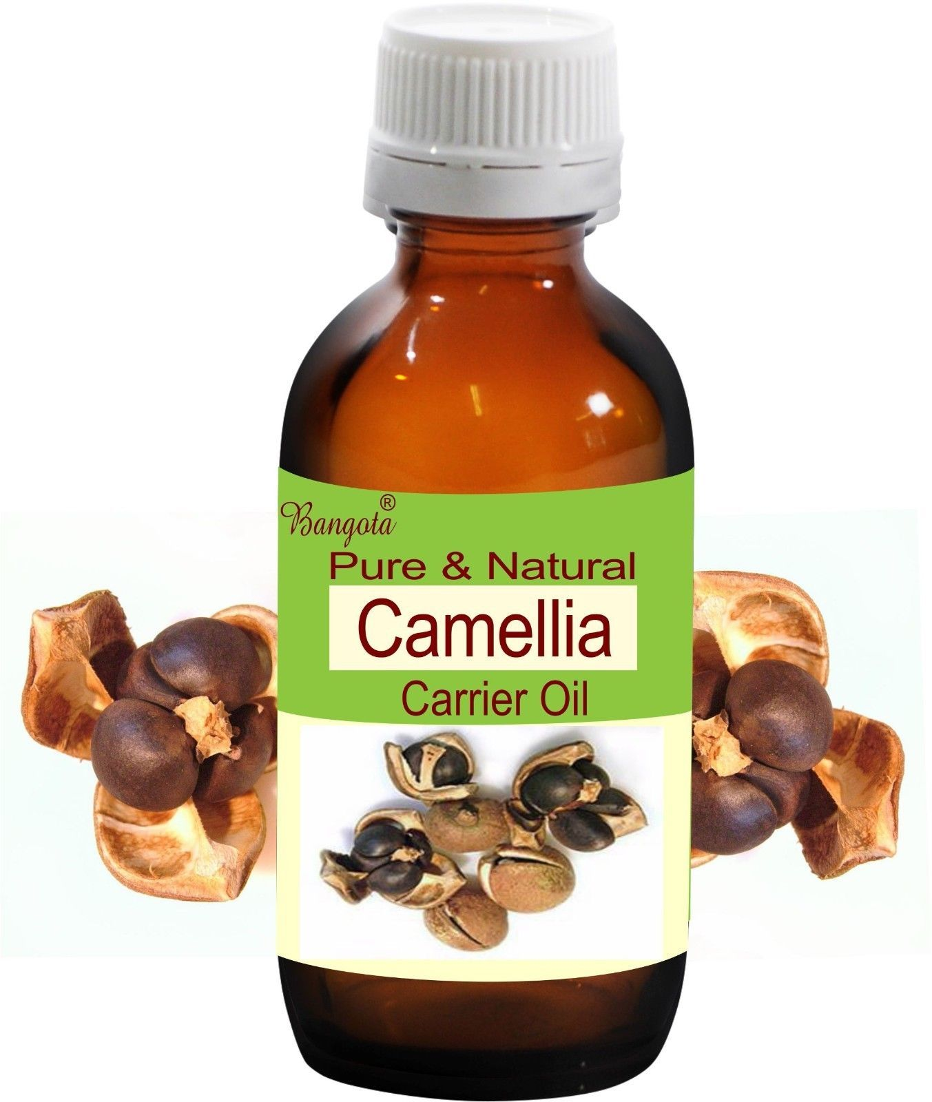 Camellia Pure Natural Carrier Oil- 5 ml to 250 ml- Camellia sinensis by Bangota