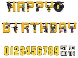 LEGO THE BATMAN Custom Age Letter Happy Birthday Jumbo Letter Banner Kit... - $26.27 CAD