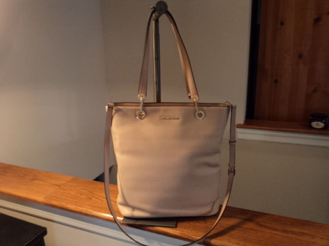 5477d10413 S l1600. S l1600. Previous. Michael Kors Raven Large North South TZ Leather  Tote Oyster Crossbody NWT