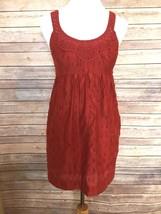 BCBG Maz Azria Crochet & Cotton Empire Waist Lined Maroon Mini Dress Sz ... - $25.20