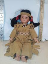 """Golden Keepsake 13"""" Little Star American Indian Porcelain Doll numbered - $7.70"""