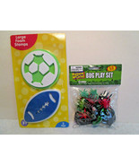 """Kids Boley Toy Lot BUG PLAY SET 13 pc Pack & 4"""" Foam GAME BALL STAMPERS - $4.34"""